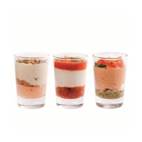verrines mix salees 48p - Verrine chêvre, miel et thym