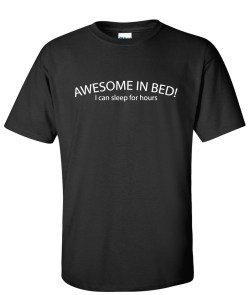 awesome in bed black