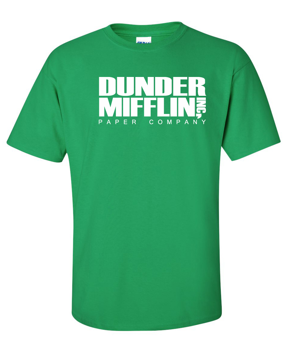 dunder mifflin paper company Shop dunder mifflin paper company television t-shirts designed by clobberbox as well as other television merchandise at teepublic.