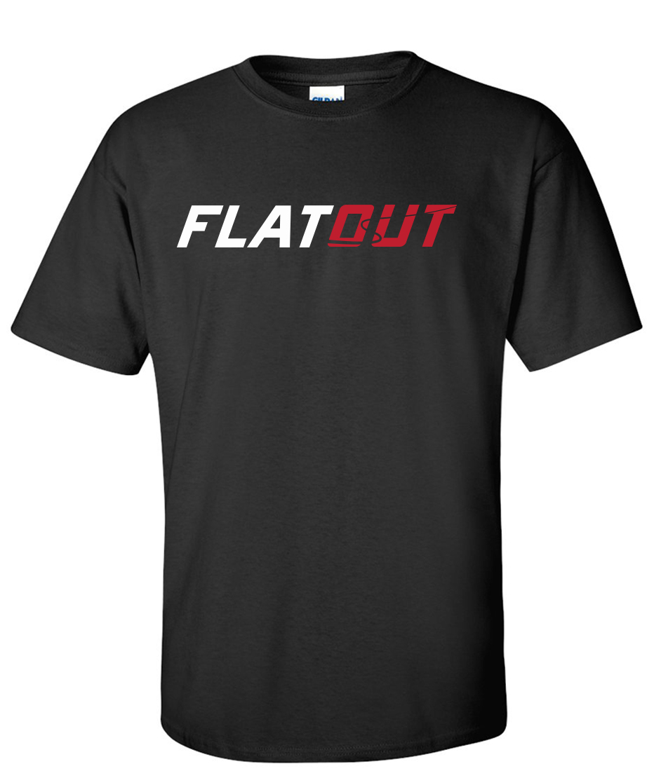 Flatout custom order logo graphic t shirt supergraphictees for Order shirts with logo