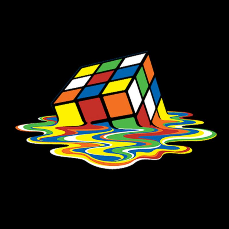 melted rubik cube logo graphic t shirt supergraphictees
