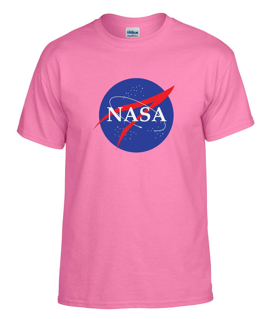 Nasa Space Agency Color Logo Graphic T Shirt