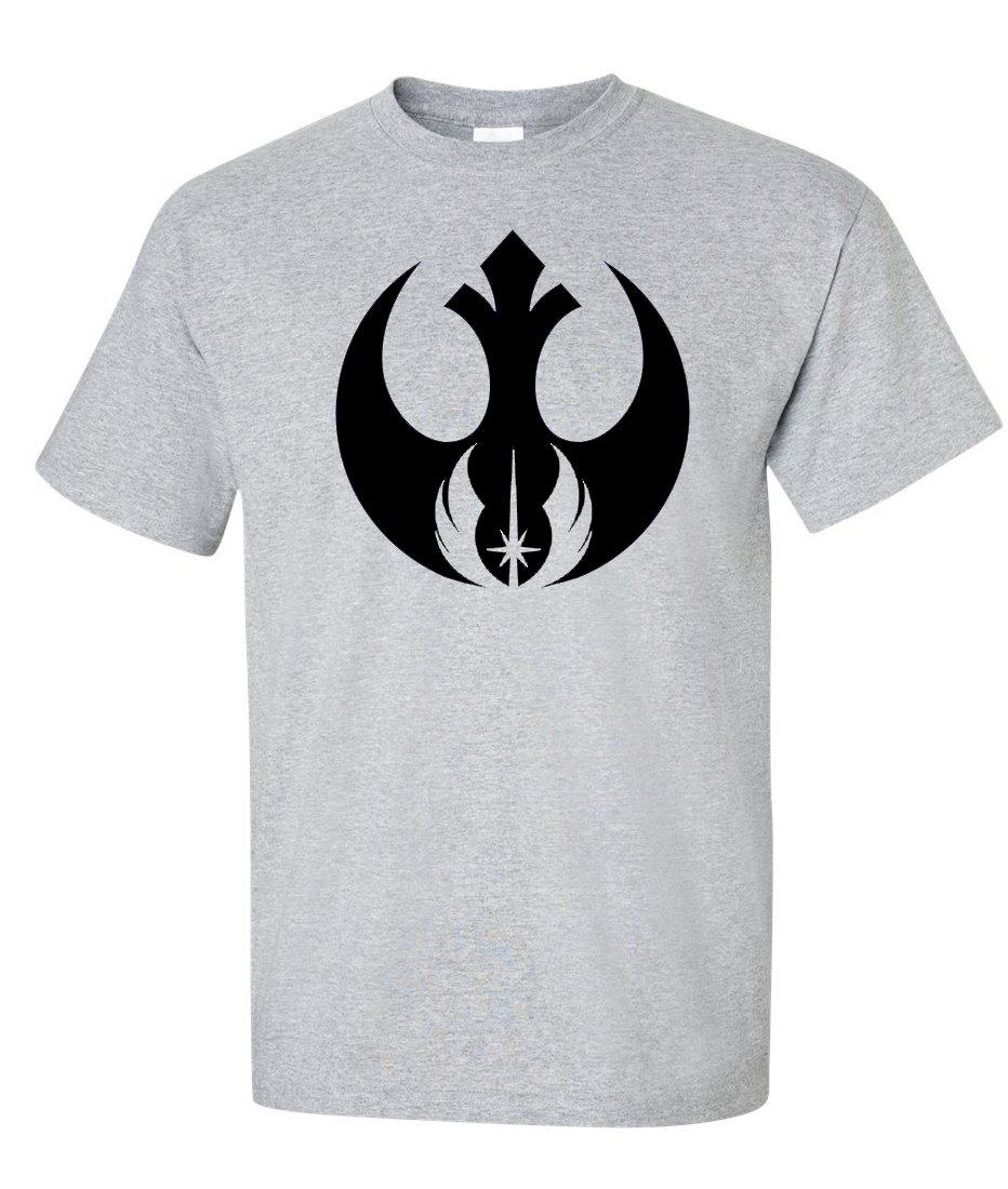 Rebel alliance jedi order logo graphic t shirt for Order shirts with logo