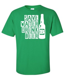 save water drink beer green