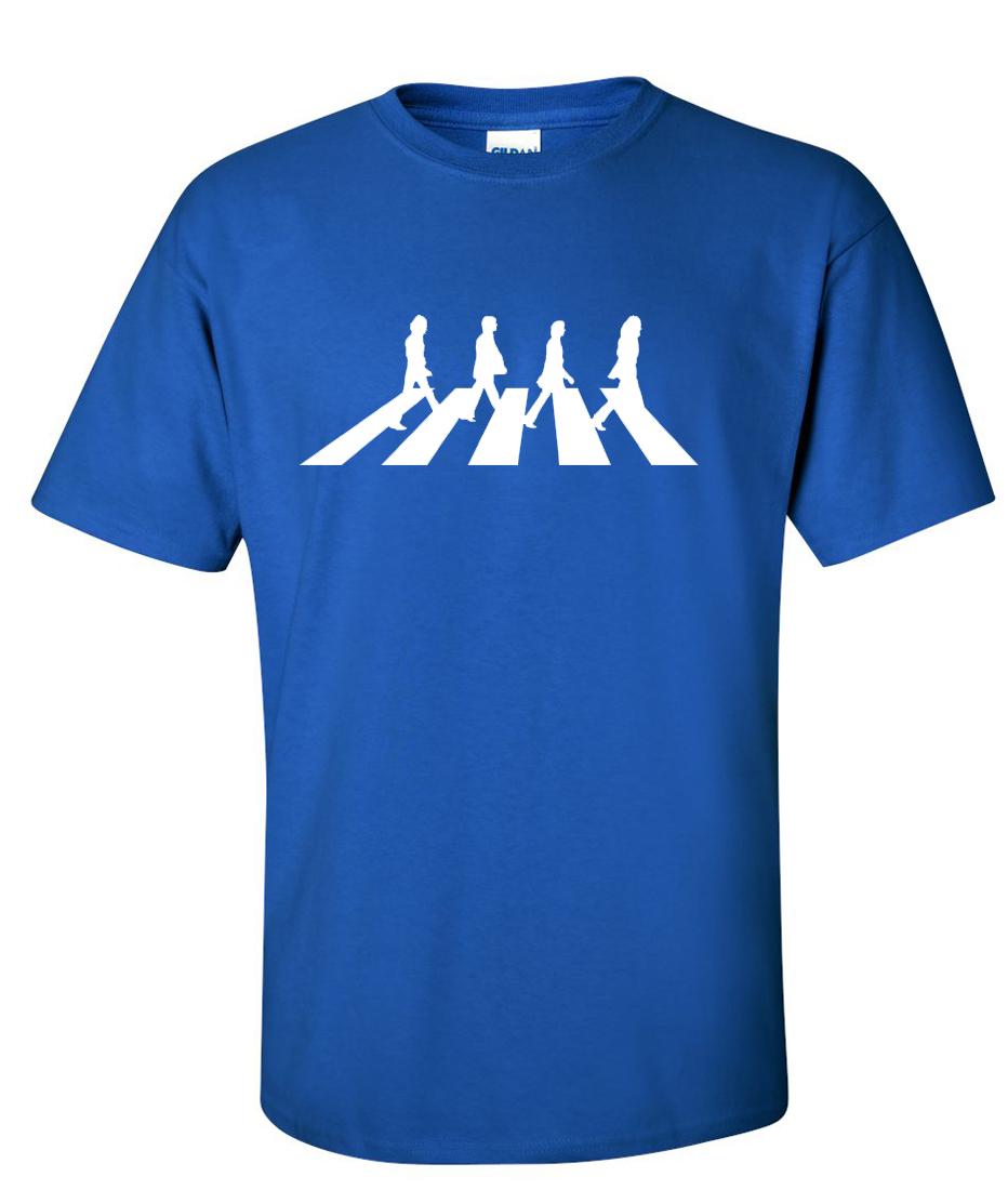 The Beatles Walking Abbey Road Logo Graphic T Shirt