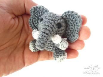 Amigurumi Crochet Elephant Size