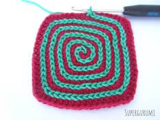 Square Crochet Coaster Slip Stitch Spiral Step 13