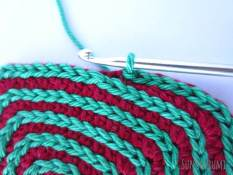Square Crochet Coaster Slip Stitch Spiral Step 14