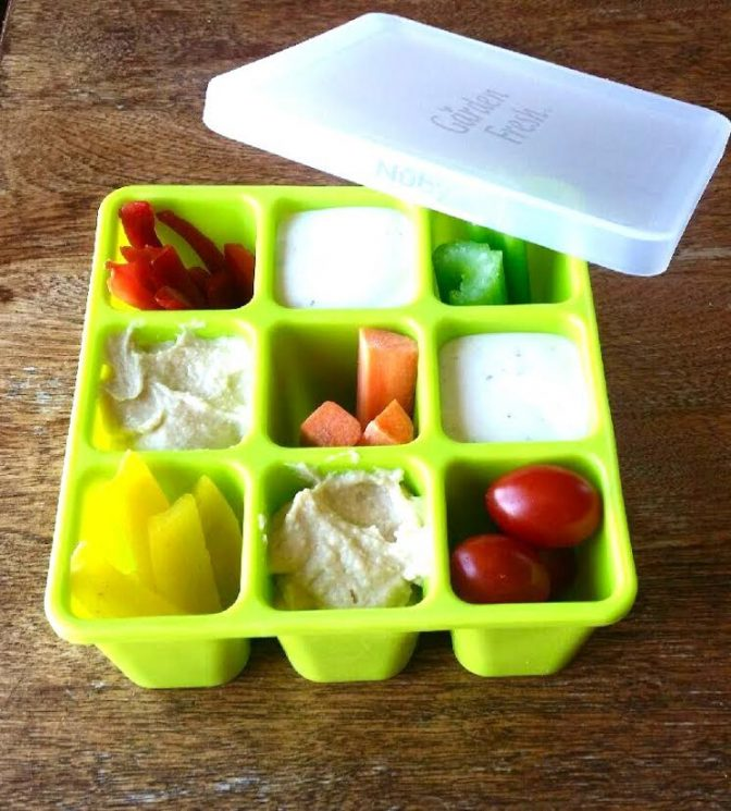 baby food container filled with snacks for toddlers