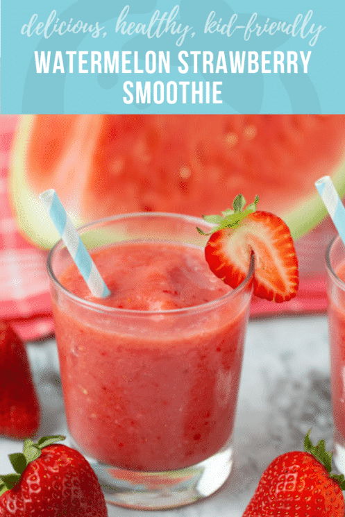 Watermelon Strawberry Smoothie | Healthy Recipes and Ideas for Kids