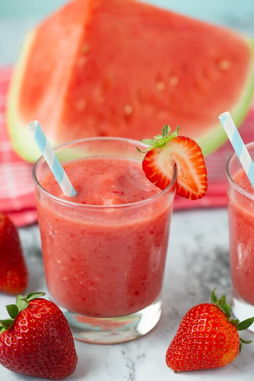 strawberry watermelon smoothie for a healthy summer treat