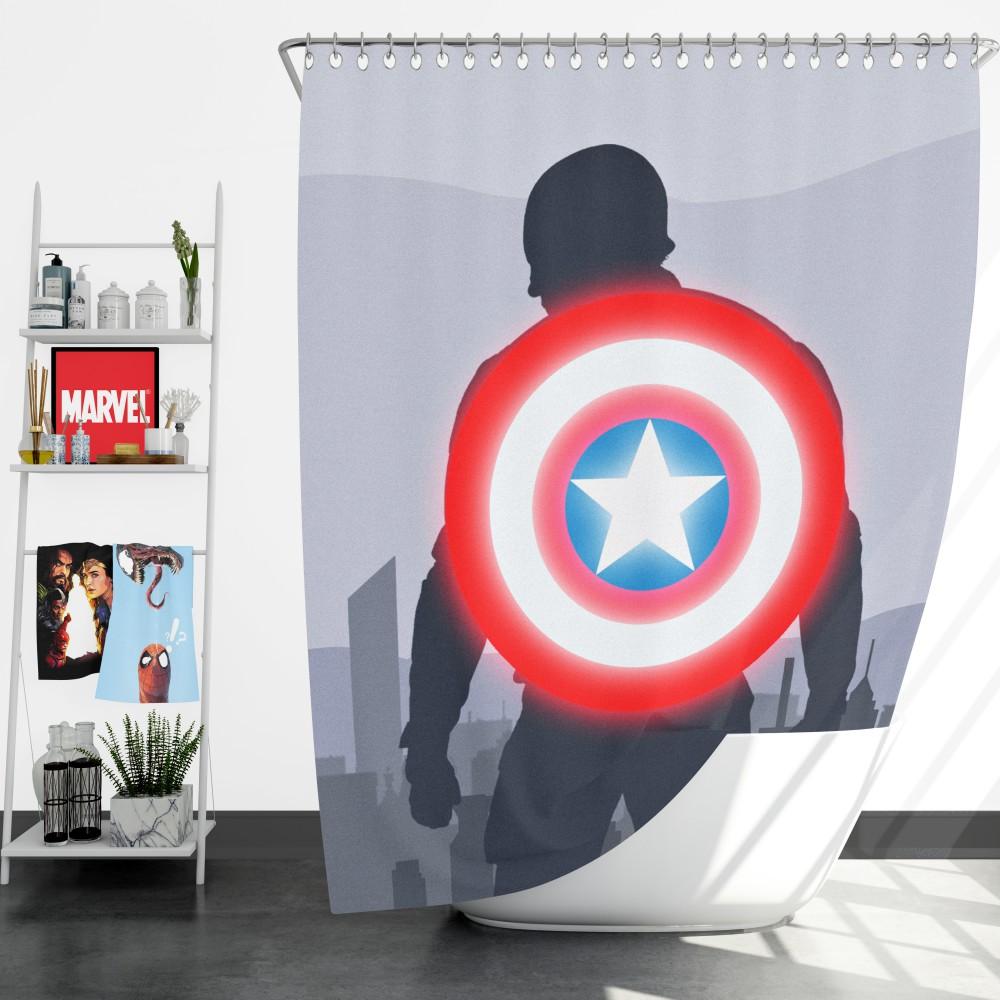 captain america ii death too soon shower curtain