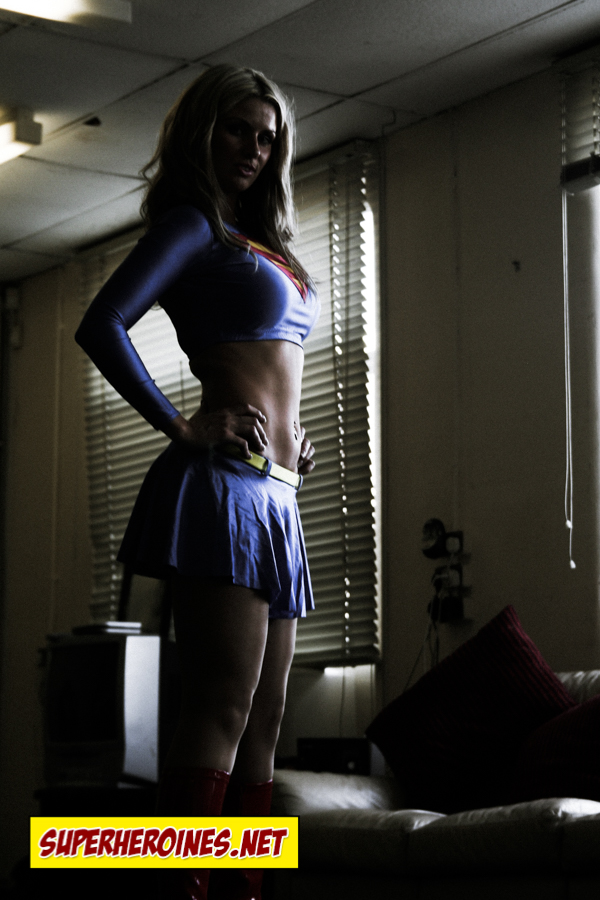 Side profile of Supergirl in a crop top