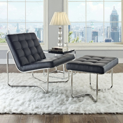 Gibraltar Lounge Chair in Black