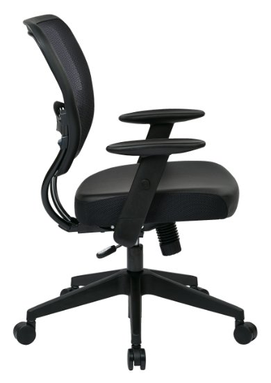 Office Star Space Professional Air Grid Back Managers Chair with Eco Leather Seat_Side