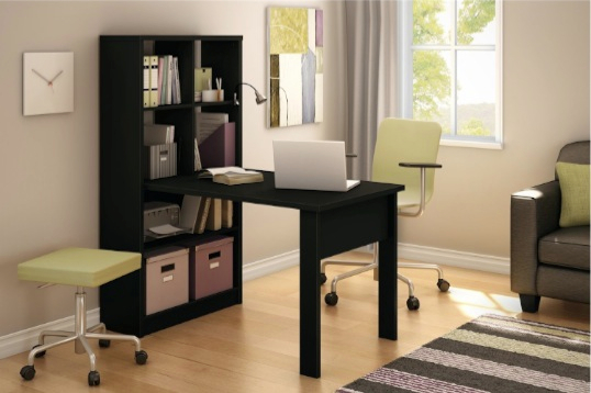 South Shore Annexe Work Table and Storage Unit Combo