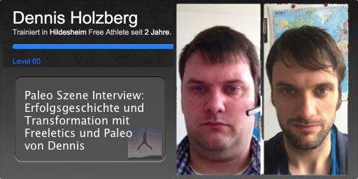 Transformation von Dennis Holzberg - Freeletics Paleo Free Athlete