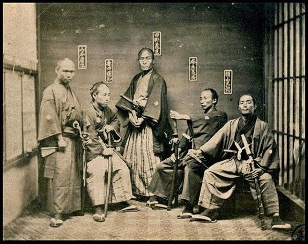 1850 yılından samuray savaşçıları