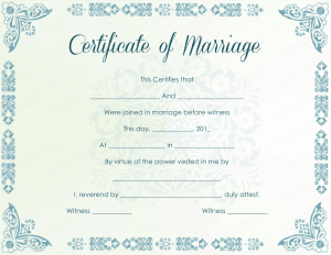 Fake Certificate Of Marriage 2