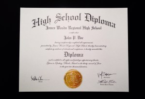 Fake High School Diploma.