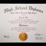 Fake High School Diploma.