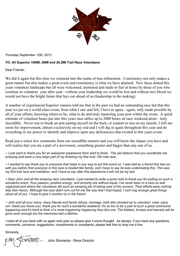 thank you letter to volunteers at event | Aderichie.co