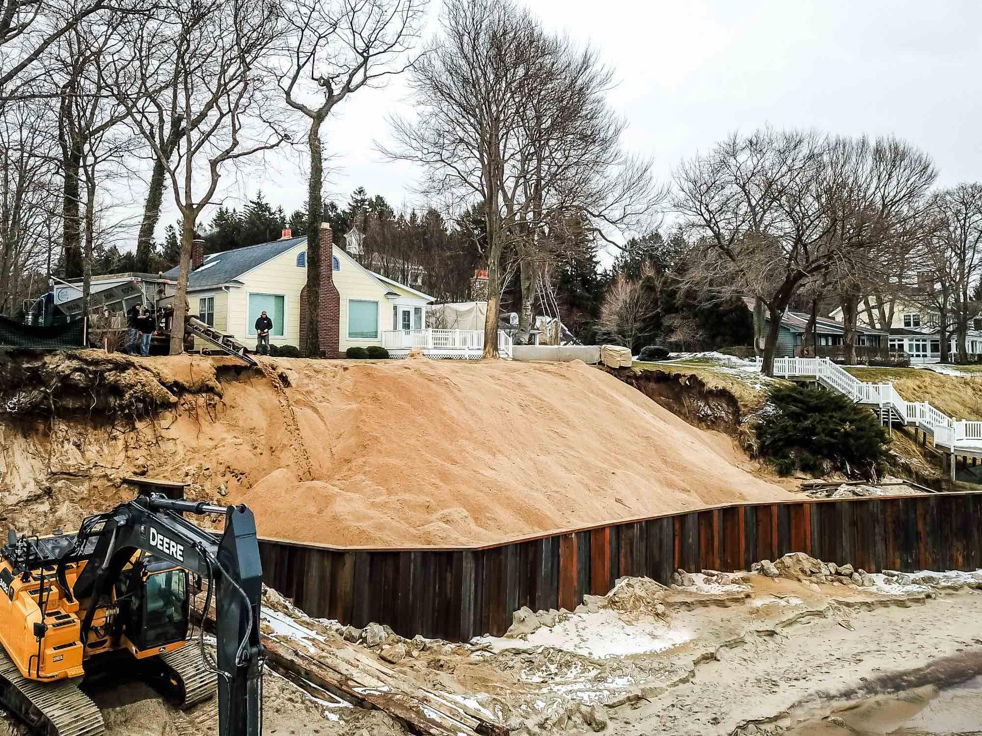 lake michigan shoreline erosion