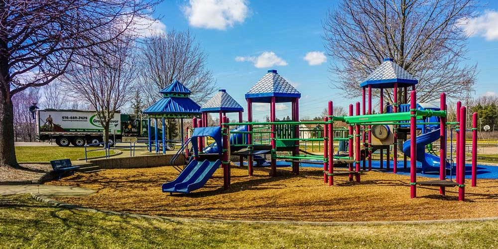 Playground with groundcover installed