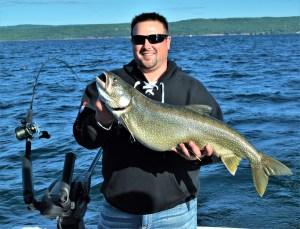 Lake superior charter fishing lake trout salmon and for Lake superior salmon fishing