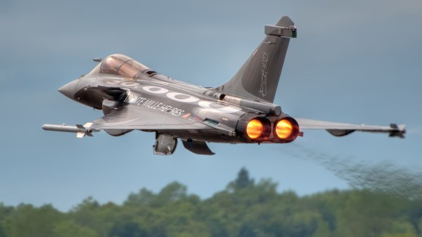 Rafale fighter aircraft take-off