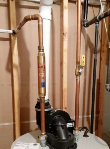 superior water treatment installed on hot water heater