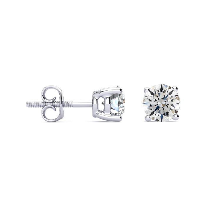 1 1/2ct G/H SI/VS Round Diamond Stud Earrings In Platinum