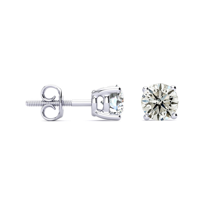 1 1/2ct Classic Quality Diamond Stud Earrings In Platinum