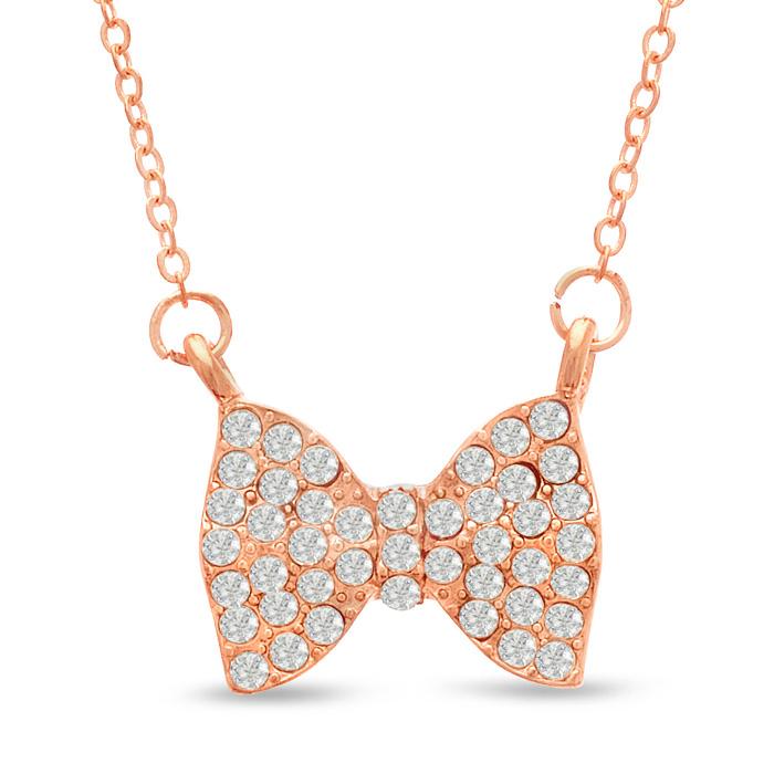 Swarovski Elements Crystal Bow Necklace