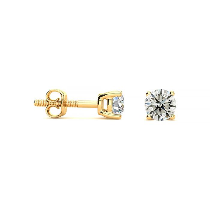 1/2ct Diamond Stud Earrings in 14k Yellow Gold