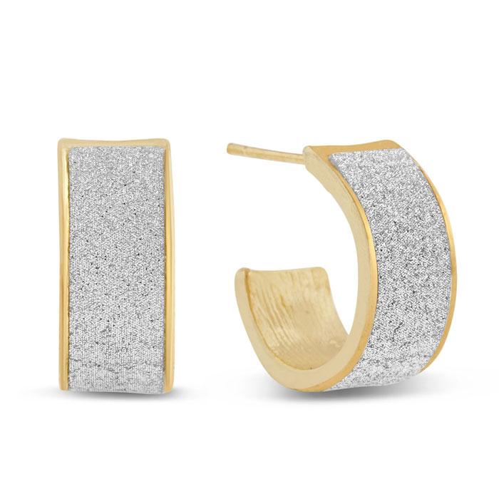 Swarovski Dust Huggie Hoop Earrings