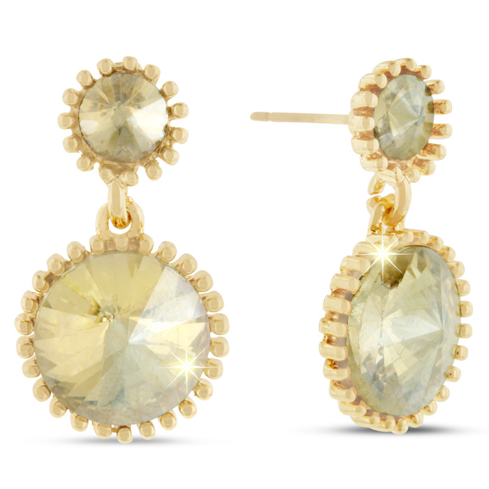 Swarovski Elements Yellow Starburst Earrings