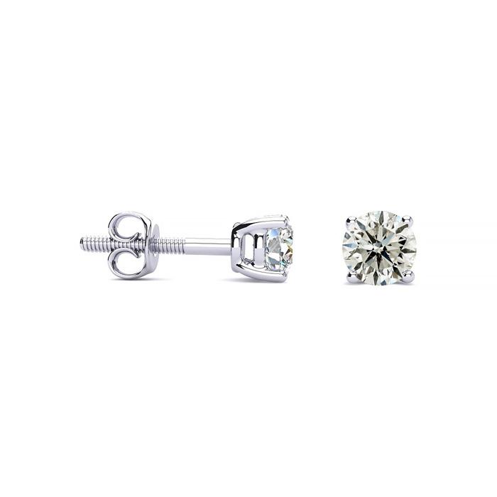 1/2ct Diamond Stud Earrings in Platinum