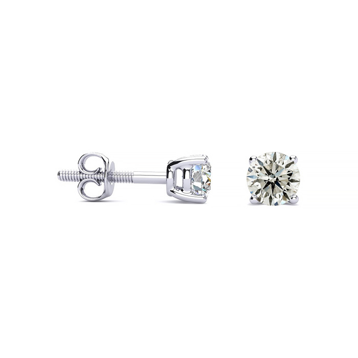 1/2ct Diamond Stud Earrings and Necklace Set in 14k White Gold - FREE Matching Diamond Pendant Appraised Together at $1,300!