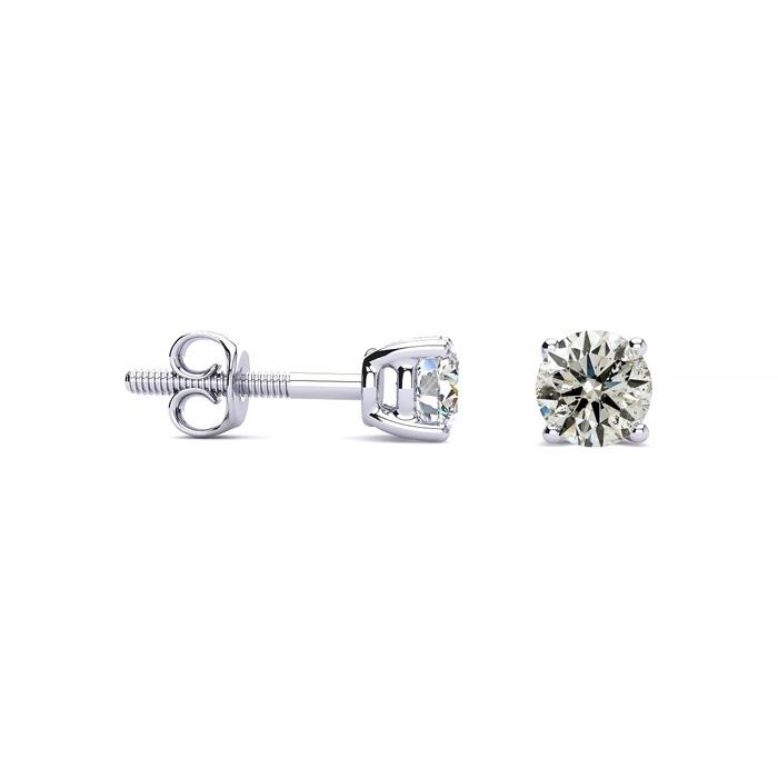 1/2ct Diamond Stud Earrings in 10k White Gold