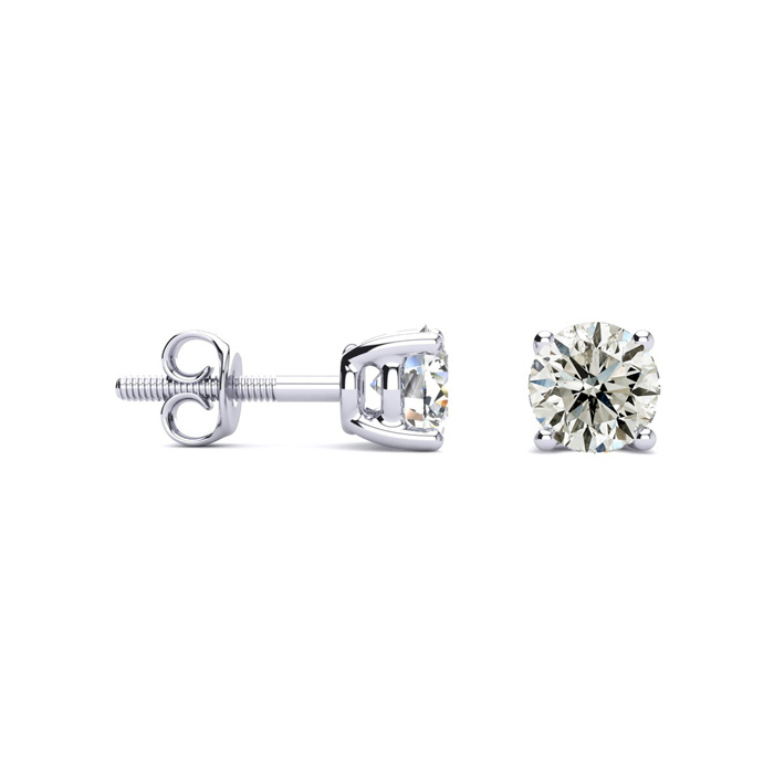 Affordable 1 1/4ct Diamond Stud Earrings In 14k White Gold