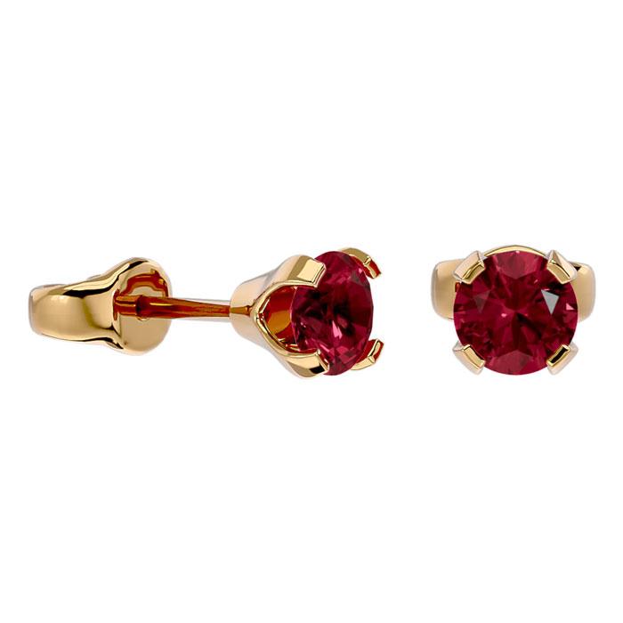 .60ct Garnet Stud Earrings in 14k Yellow Gold