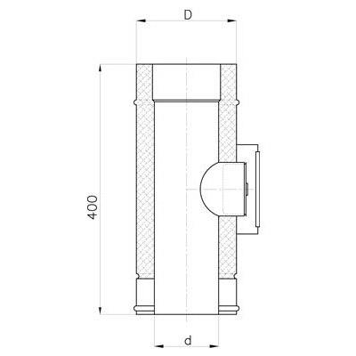 Komínový čistící díl DN 130 mm, izolace 30