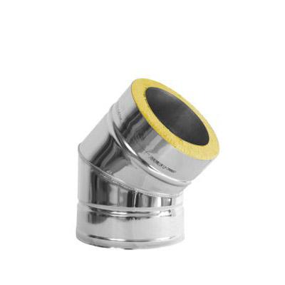 Komínové koleno 45°, DN 130 mm, izolace 30 mm