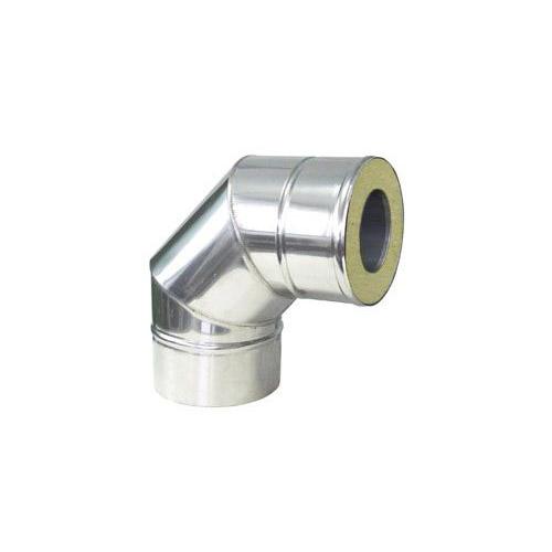 Nerezové izolované koleno 87°, izolace 50 mm