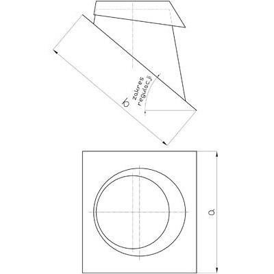 Komínový střešní přechod DN 130 mm, sklon 5-30°, pro systémy s izolací 30 mm