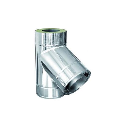 Nerezový izolovaný T-kus 60°, izolace 50 mm