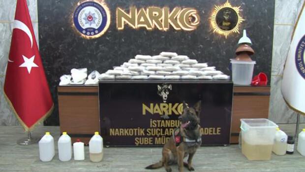 İstanbul'da uyuşturucu operasyonu; narkotik köpeği bavuldaki uyuşturucuyu böyle buldu
