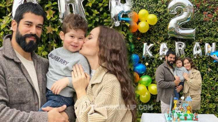 Fahriye-Burak çiftinden doğum günü paylaşımı! Karan iki yaşında