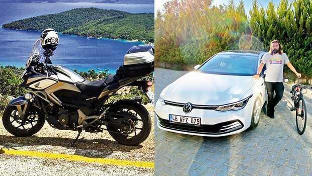 3 değişik araçla 1000 km